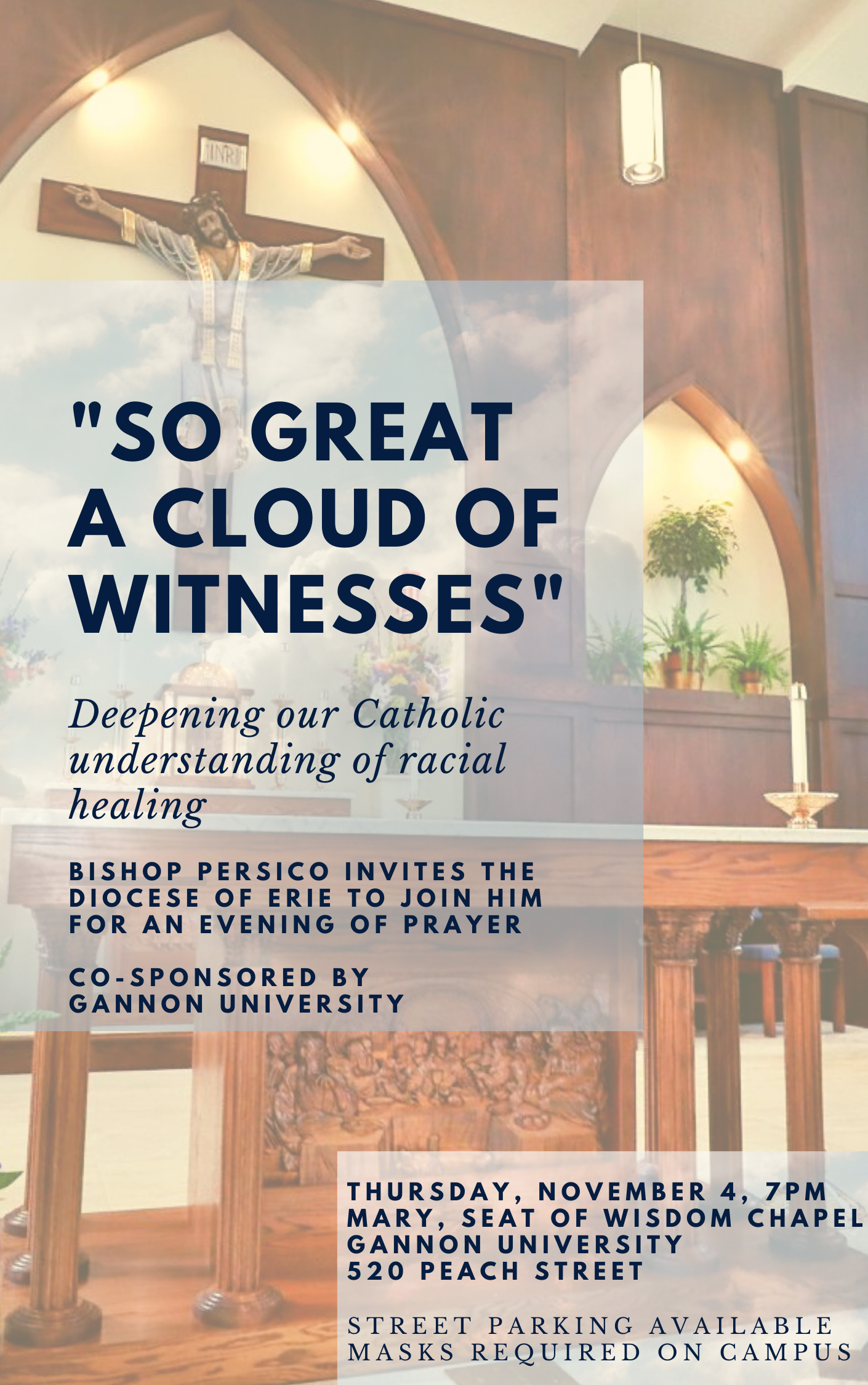 """""""SO GREAT A CLOUD OF WITNESSES"""""""